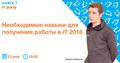 """iT Party """"Необходимые навыки для получения работы в iT 2018"""""""