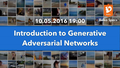 """Лекция """"Introduction to Generative Adversarial Networks"""""""