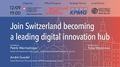 "Lecture ""Join Switzerland becoming a leading digital innovation hub"""