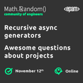Webinar: Recursive async generators & Awesome questions about projects | November 12th