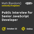 Webinar: Public interview for Senior JavaScript Developer
