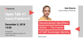 Perfectial Open Talk #1 Ivano-Frankivsk: Blockchain