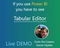 Webinar [Power BI/SSAS/PowerPivot] Tabular Editor Scripting