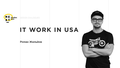 """Лекция """"IT work in USA"""""""