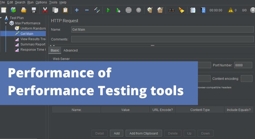 Performance ofPerformance Testing tools