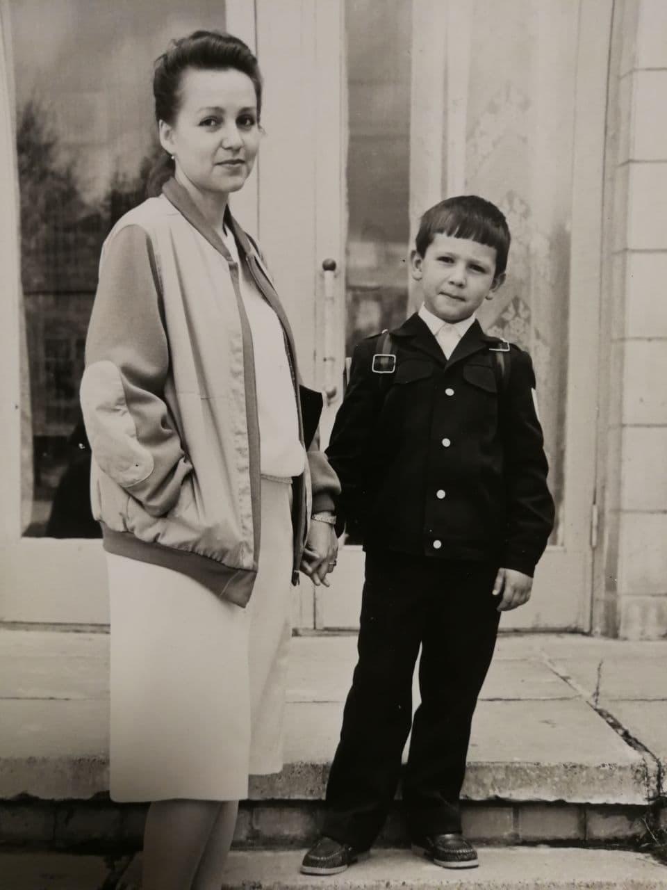 Маленький Тимур с мамой Наташей